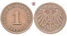 Deutsches Kaiserreich, 1 Pfennig 1896, A, f.st, J. 10