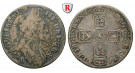 Grossbritannien, William III., Shilling 1697, s+