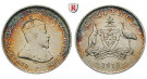 Australien, Edward VII., 6 Pence 1910, vz/f.st