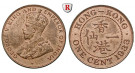 Hong Kong, George V., Cent 1933, vz-st