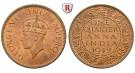 Indien, Britisch-Indien, George VI., 1/4 Anna 1939, vz-st/st