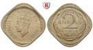 Indien, Britisch-Indien, George VI., 2 Annas 1939, vz+