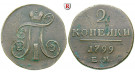 Russland, Paul I., 2 Kopeken 1799, ss+