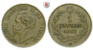 Italien, Königreich, Vittorio Emanuele II., Centesimo 1861, vz-st