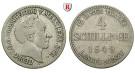 Mecklenburg, Mecklenburg-Strelitz, Georg, 4 Schilling 1849, ss
