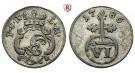 Schwarzburg, Rudolstadt, Ludwig Günther II., 6 Pfennig 1786, ss+