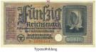 Besatzungsausgaben des 2. Weltkrieges 1939-1945, Reichskreditkasse, 50 Reichsmark o.D., II, Rb. 555