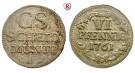 Sachsen, Albertinische Linie, Friedrich August II., 6 Pfennig 1761, ss+