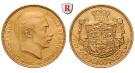 Dänemark, Christian X., 20 Kroner 1913-1917, 8,06 g fein, vz