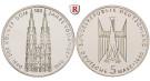 Bundesrepublik Deutschland, 5 DM 1980, Kölner Dom, F, PP, J. 428