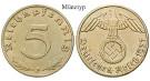 Drittes Reich, 5 Reichspfennig 1937, J, st, J. 363