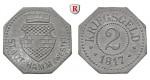 Städtenotgeld Deutschland, Westfalen, Stadt Hamm, 2 Pfennig 1919, vz-st