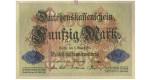 1. Weltkrieg 1914-1918, 50 Mark 05.08.1914, I-, Rb. 50b