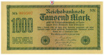 Inflation 1919-1924, 1000 Mark 15.09.1922, I-, Rb. 75i