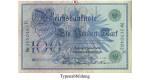Reichsbanknoten und Reichskassenscheine, 100 Mark 07.02.1908, II, Rb. 34