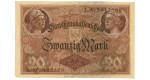 1. Weltkrieg 1914-1918, 20 Mark 05.08.1914, II-III, Rb. 49b