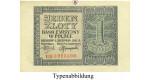 Besatzungsausgaben des 2. Weltkrieges 1939-1945, Generalgouvernement Polen, 1 Zloty 01.08.1941, III, Rb. 579a