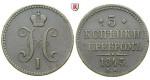 Russland, Nikolaus I., 3 Kopeken 1843, ss