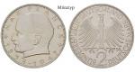 Bundesrepublik Deutschland, 2 DM 1966, Planck, F, vz-st, J. 392
