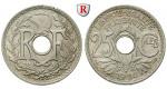 Frankreich, III. Republik, 25 Centimes 1920, f.st