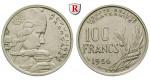 Frankreich, IV. Republik, 100 Francs 1956, vz/ss-vz