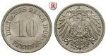 Deutsches Kaiserreich, 10 Pfennig 1906, F, vz-st, J. 13