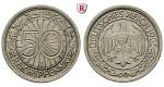 Weimarer Republik, 50 Reichspfennig 1935, E, vz, J. 324