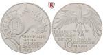 Bundesrepublik Deutschland, 10 DM 1972, Zeltdach, Serie von 4 Münzen, DFGJ, PP, J. 404