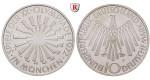 Bundesrepublik Deutschland, 10 DM 1972, Spirale München, F, PP, J. 401b