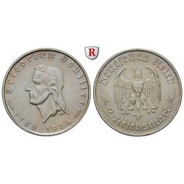 Drittes Reich, 2 Reichsmark 1934, Schiller, F, f.vz, J. 358