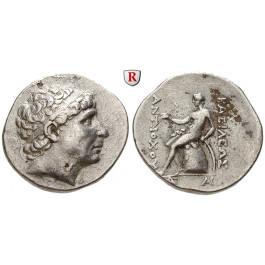 Syrien, Königreich der Seleukiden, Antiochos I., Tetradrachme 272-261 v.Chr., ss