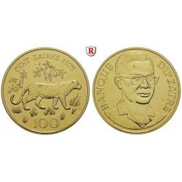 Zaire, 100 Zaires 1975, 30,1 g fein, st