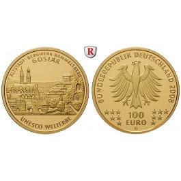 Bundesrepublik Deutschland, 100 Euro 2008, nach unserer Wahl, A-J, 15,55 g fein, st, J. 538