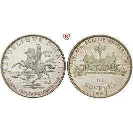 Haiti, 10 Gourdes 1967, 47,05 g fein, PP