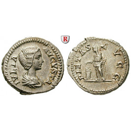 Römische Kaiserzeit, Julia Domna, Frau des Septimius Severus, Denar 204, f.vz