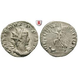 Römische Kaiserzeit, Gallienus, Antoninian 258-259, ss