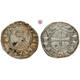 Kreuzfahrerstaaten, Antiochia - Fürstentum, Bohemund III., Denar 1163-1201, f.vz