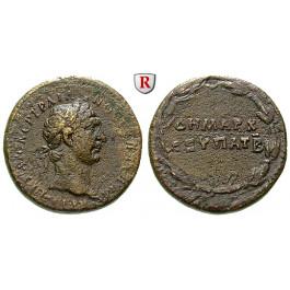 Römische Provinzialprägungen, Kappadokien, Caesarea, Traianus, Bronze, ss+