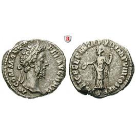 Römische Kaiserzeit, Commodus, Denar 186-187, ss