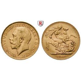 Australien, George V., Sovereign 1911-1931, 7,32 g fein, ss-vz