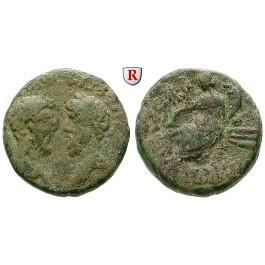 Römische Provinzialprägungen, Phönizien, Arados, Marcus Aurelius, Bronze Jahr 421 = 162-163, ss