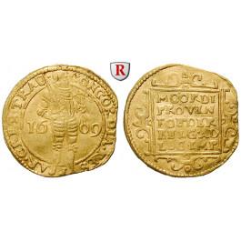 Niederlande, Utrecht, Dukat 1609, 3,42 g fein, ss
