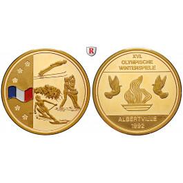 Sport, Turn- und Sportfeste, Goldmedaille 1992, 22,08 g fein, PP