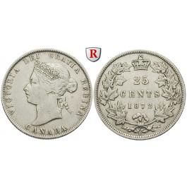Kanada, Victoria, 25 Cents 1872 H, ss