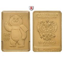 Russland, Republik, 50 Rubel 2012, 7,77 g fein, st