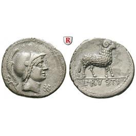 Römische Republik, L. Rustius, Denar 76 v.Chr., f.vz