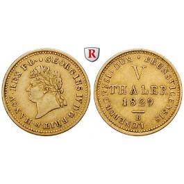 Braunschweig, Königreich Hannover, Georg IV., 5 Taler 1829, ss