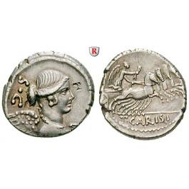 Römische Republik, T. Carisius, Denar 46 v.Chr., ss-vz