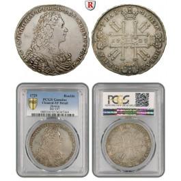 Russland, Peter II., Rubel 1729, ss+