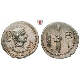 Römische Republik, C. Norbanus, Denar 83 v.Chr., vz-st